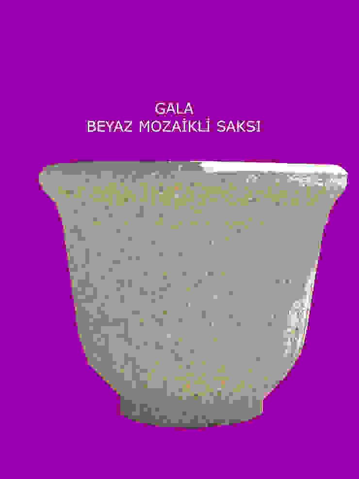 GALA BEYAZ MOZAİKLİ SAKSI BAHÇE DEKOR Beton Bahçe Elemanları ve Gıda San. Tic. Ltd. Şti. Klasik