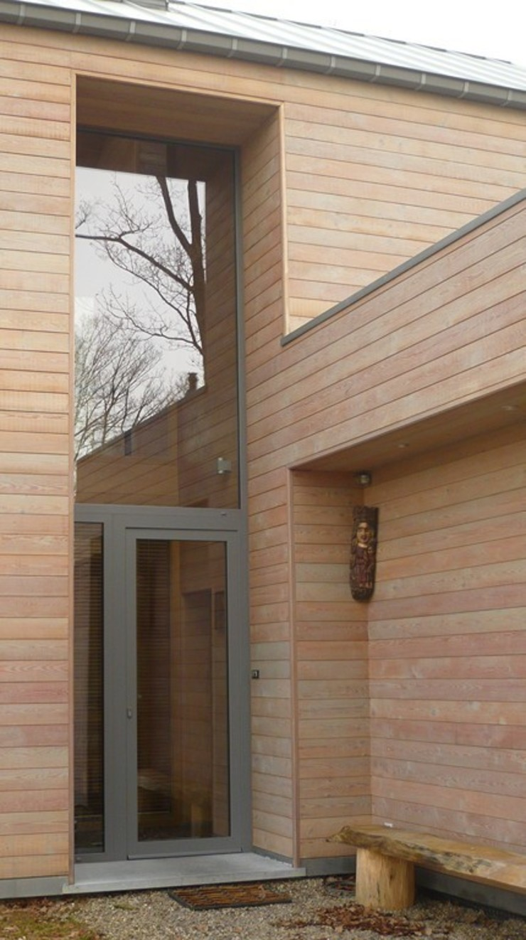Moderne Häuser von Atelier d'architecture François Misonne Modern