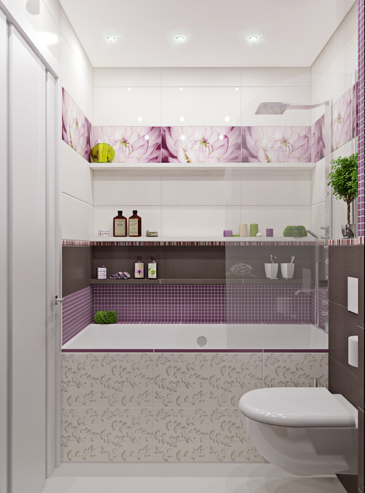 трехкомнатная квартира в г.Железнодорожном Ванная комната в эклектичном стиле от 'Лайф Арт' Эклектичный