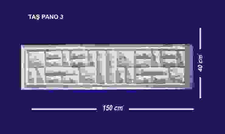 BAHÇE DEKOR Beton Bahçe Elemanları ve Gıda San. Tic. Ltd. Şti. – TAŞ PANO 3: modern tarz , Modern