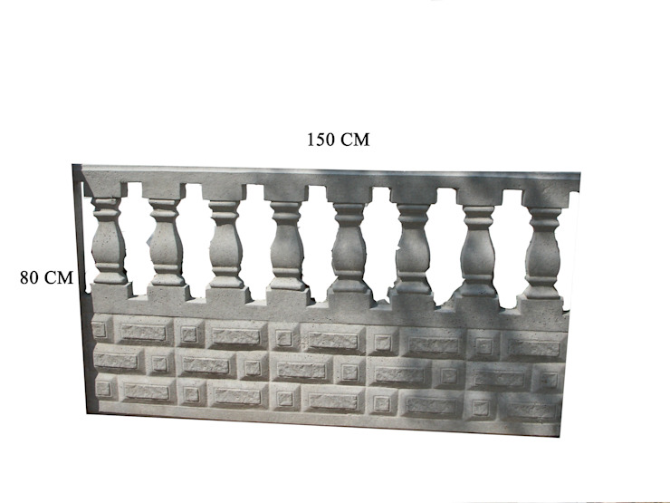 80 CM LİK TRABZAN PANO MODELİ BAHÇE DEKOR Beton Bahçe Elemanları ve Gıda San. Tic. Ltd. Şti. Rustik