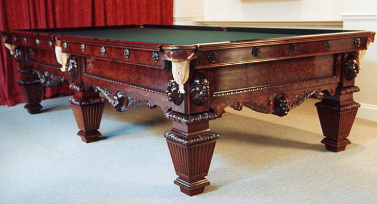 10 ft Fichera Snooker Table in solid walnut: classic  by HAMILTON BILLIARDS & GAMES CO LTD, Classic