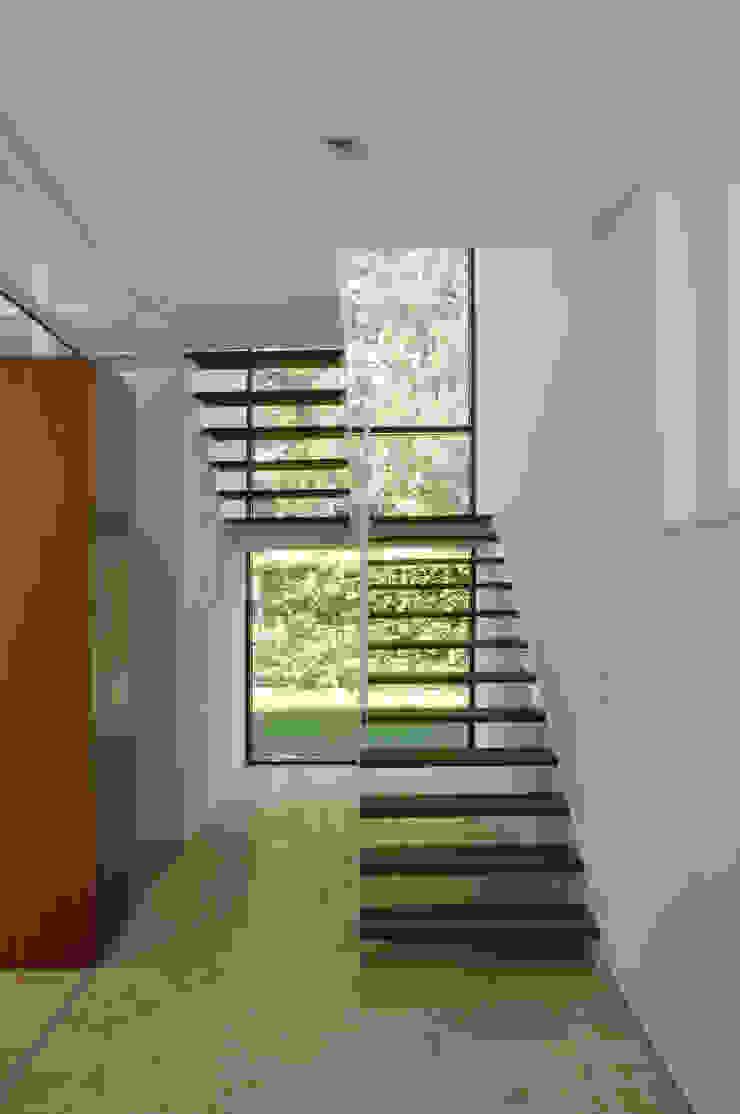 Einfamilienhaus in Lustenau / Österreich Moderner Flur, Diele & Treppenhaus von Früh Architekturbüro ZT GmbH Modern