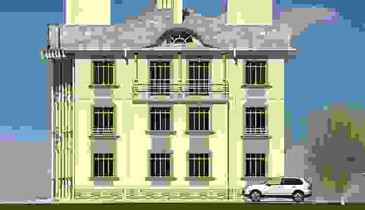 Боковой фасад Дома в эклектичном стиле от Проектное бюро 'АДЕКО', г. Казань Эклектичный