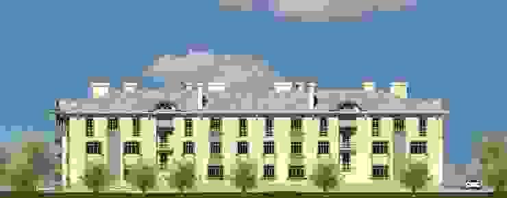 Фасад со двора Дома в эклектичном стиле от Проектное бюро 'АДЕКО', г. Казань Эклектичный