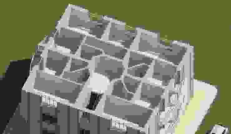 План 3-го этажа одноподъездного дома от Проектное бюро 'АДЕКО', г. Казань