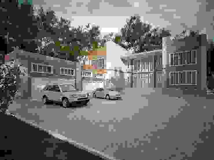 Большой дом с гаражом на 4 автомобиля Дома в стиле минимализм от Проектное бюро 'АДЕКО', г. Казань Минимализм