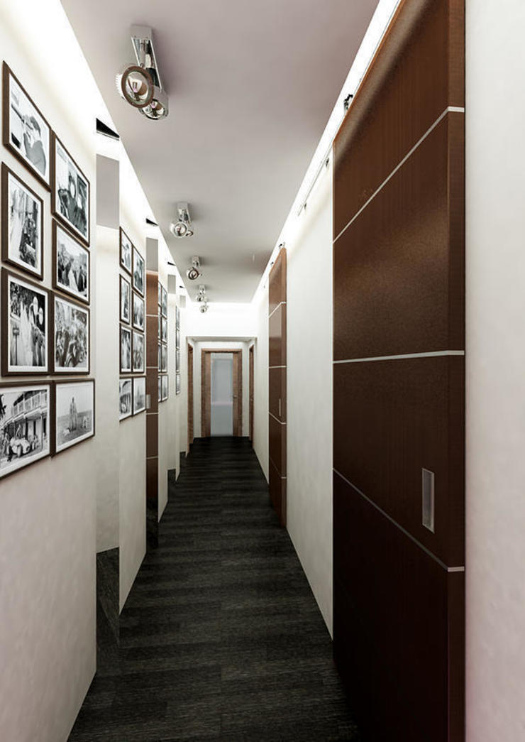 INTERIERIUM 現代風玄關、走廊與階梯