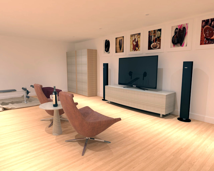 Choco Home Theatre Sala multimediale moderna di PROJECT AB Moderno