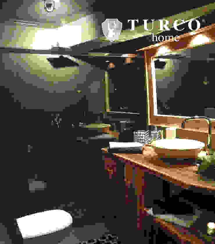 Rustic style bathroom by turco home srl Rustic