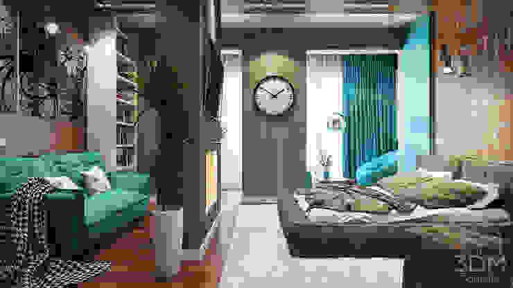 01 Спальня в стиле лофт от студия визуализации и дизайна интерьера '3dm2' Лофт