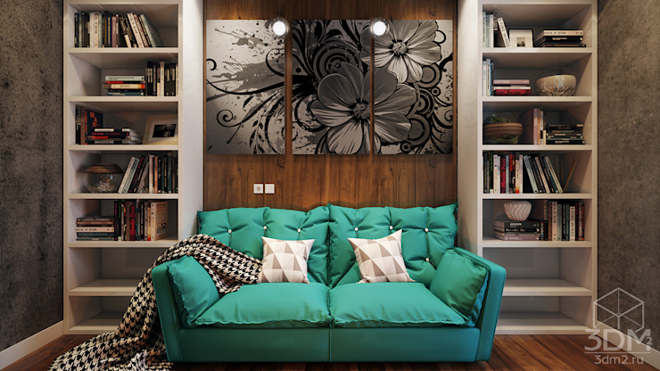 Salon de style  par студия визуализации и дизайна интерьера '3dm2',