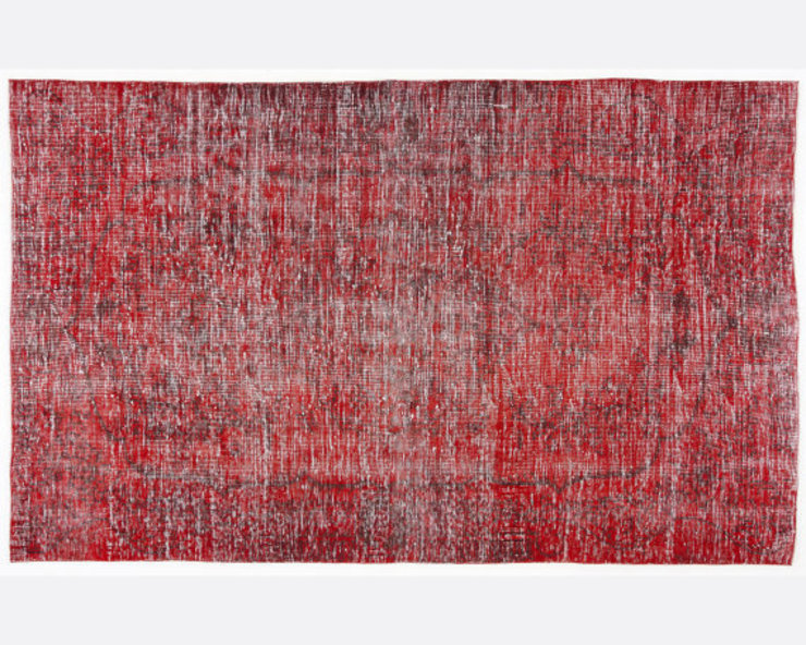 Vintage Over-dyed Rug in Red Colour 001 All the hues SalonAccessoires & décorations