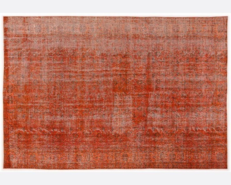 Vintage Handmade Over-dyed Rug In Orange 001 All the hues SalonAccessoires & décorations