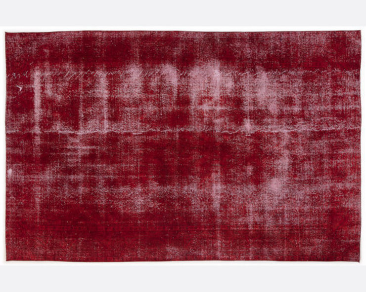 Vintage Handmade Over-dyed Rug In Rich Red 004 All the hues SalonAccessoires & décorations