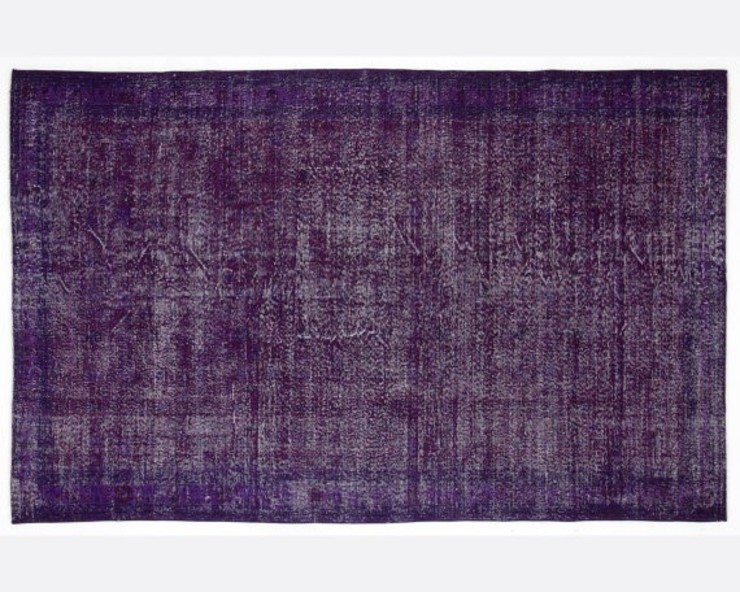 Vintage Handmade Over-dyed Rug In Purple 001 All the hues SalonAccessoires & décorations