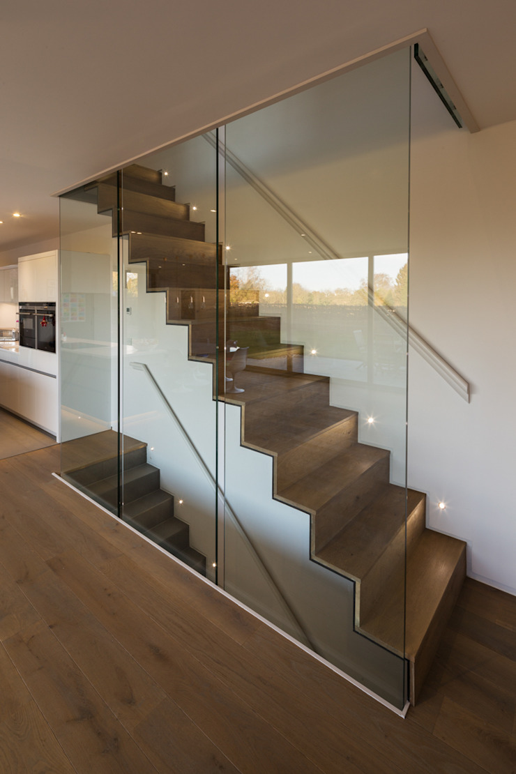 Sandpath Modern corridor, hallway & stairs by Adrian James Architects Modern