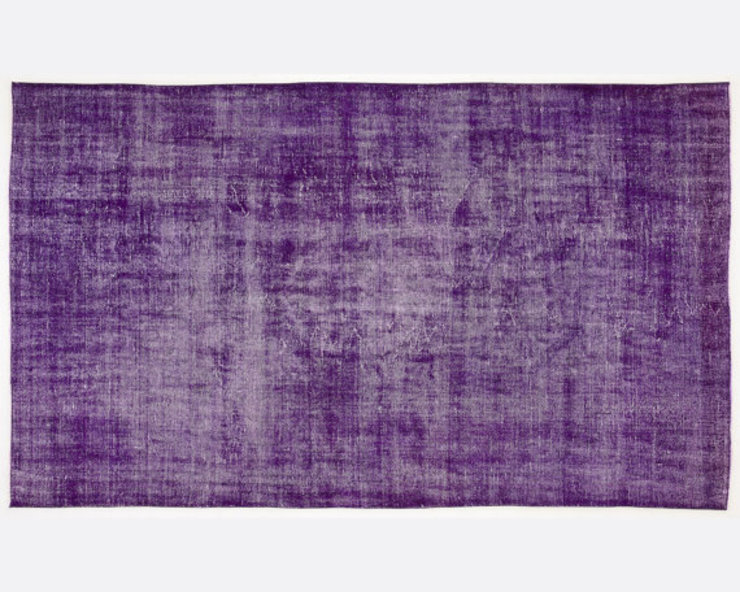 Vintage Handmade Over-dyed Rug In Purple 004 All the hues SalonAccessoires & décorations