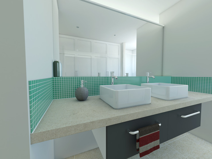 The Hawthorns, Wellington Modern bathroom by OHA Architecture Modern