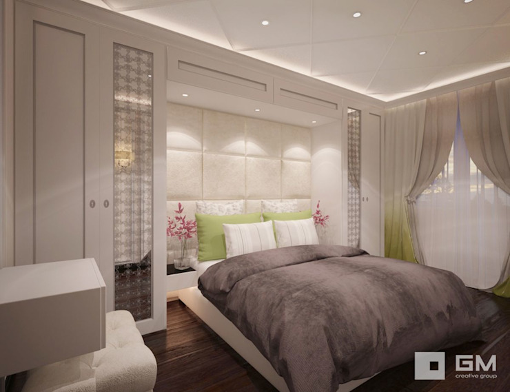 Chambre originale par GM-interior Éclectique