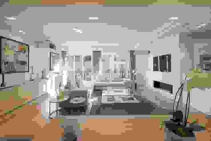 Appartement Paris XVI: Salon de style  par Atelier TO-AU, Moderne