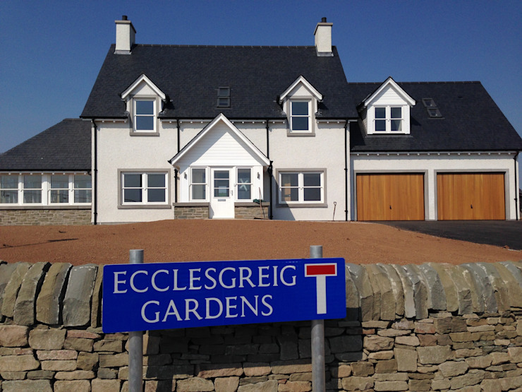 Ecclesgreig Gardens, St. Cyrus, Aberdeenshire 모던스타일 주택 by Roundhouse Architecture Ltd 모던