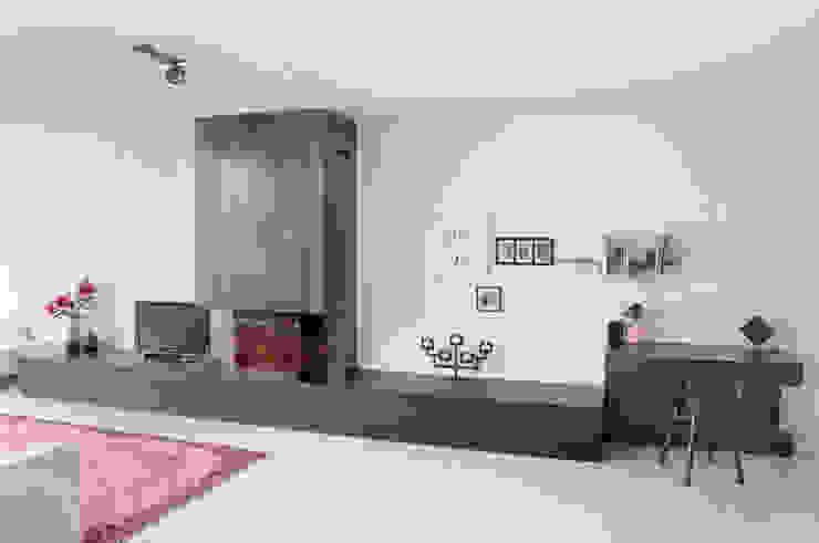 watervilla IJburg Moderne woonkamers van IJzersterk interieurontwerp Modern