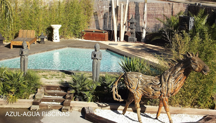 Swimming pond by Piscinas Azul-Agua, Rustic