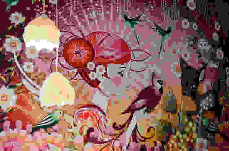 meisjeskamer met mural Moderne kinderkamers van IJzersterk interieurontwerp Modern