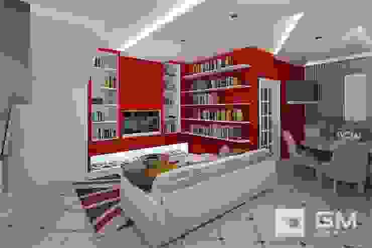 Дизайн интерьера таунхауса в пос. Бристоль 2 Гостиные в эклектичном стиле от GM-interior Эклектичный