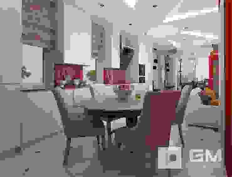 Дизайн интерьера таунхауса в пос. Бристоль 2 Кухни в эклектичном стиле от GM-interior Эклектичный