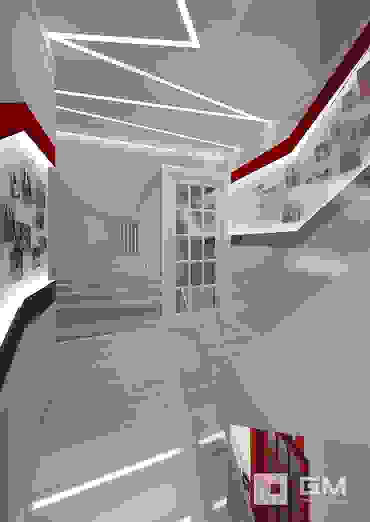 Дизайн интерьера таунхауса в пос. Бристоль 2 Коридор, прихожая и лестница в эклектичном стиле от GM-interior Эклектичный