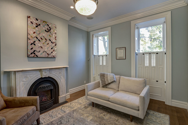 Brooklyn Townhouse Classic style living room by Ben Herzog Architect Classic