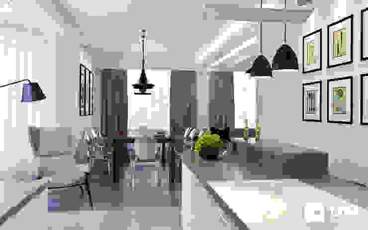 Дизайн интерьера дома по Дмитровскому шоссе, Горки Кухня в стиле минимализм от GM-interior Минимализм