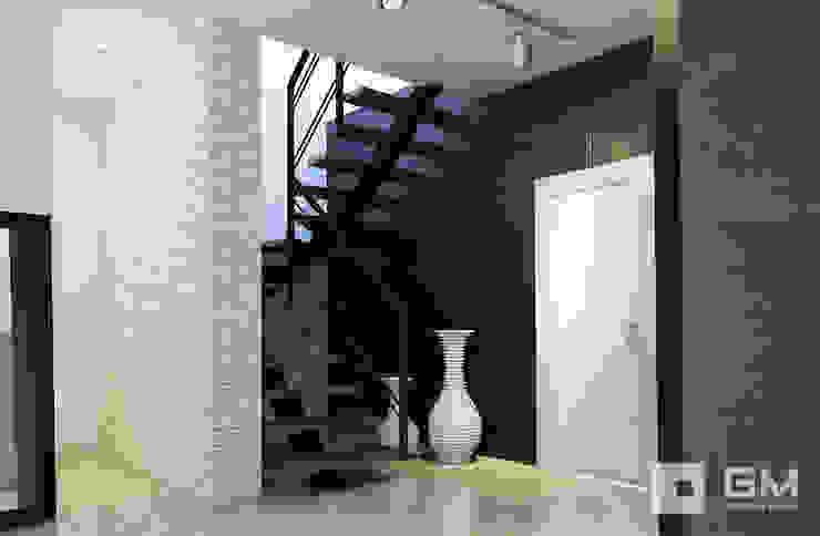 Дизайн интерьера дома по Дмитровскому шоссе, Горки Коридор, прихожая и лестница в стиле минимализм от GM-interior Минимализм