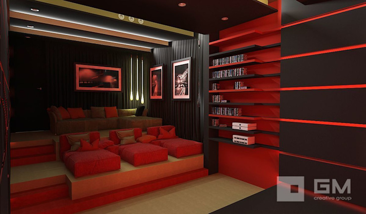 GM-interior Eclectic style media room