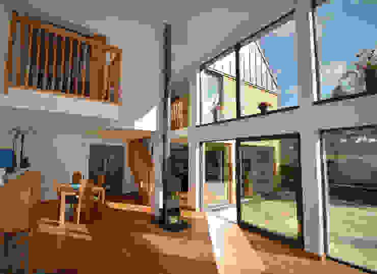 Maryville Passive House Modern living room by Joseph Thurrott Architects Modern
