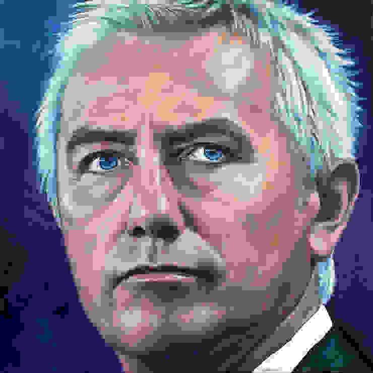 Olieverfportret Bert van Marwijk: modern  door Saskia Vugts Portretschilder, Modern