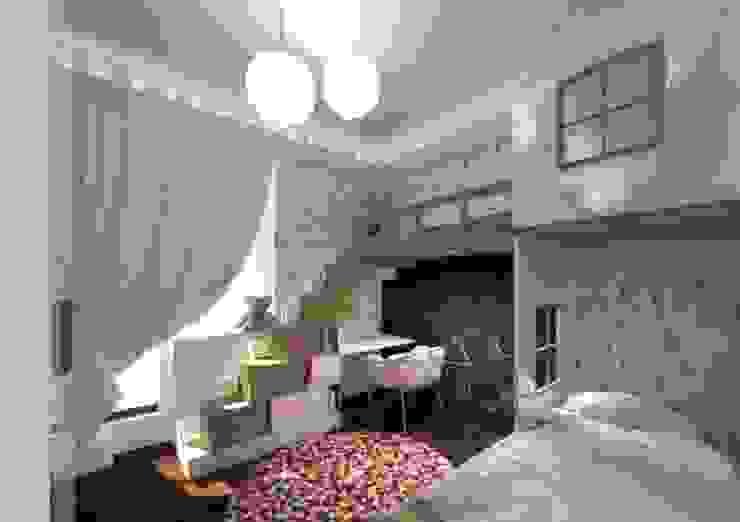 """Квартира в ЖК """"Микрогород в лесу"""":  в современный. Автор – Архитектурное бюро 'Золотые головы', Модерн"""