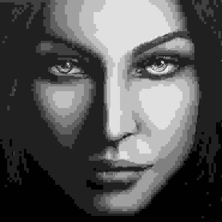 Olieverfportret Megan Fox: modern  door Saskia Vugts Portretschilder, Modern
