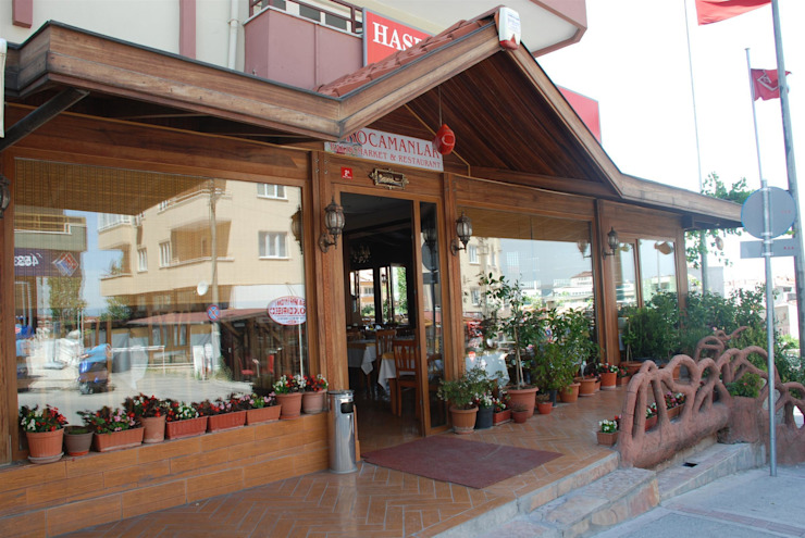 BURSA NİLÜFER / KOCAMANLAR BALIK Rustik Balkon, Veranda & Teras FARFUN AHŞAP DEKORASYON Rustik