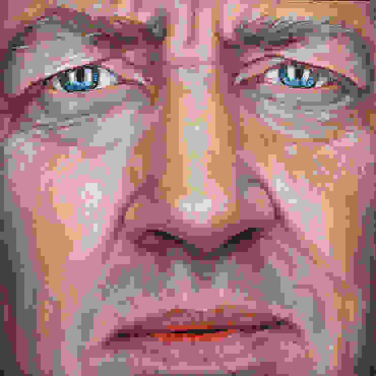 Olieverfportret van David Lynch: modern  door Saskia Vugts Portretschilder, Modern