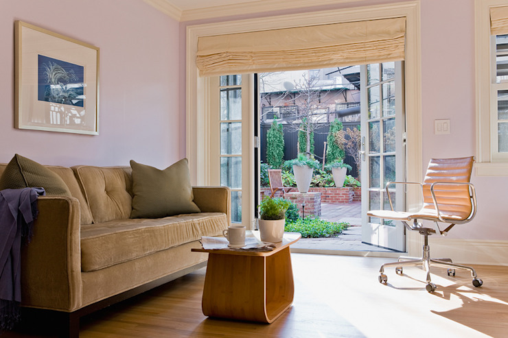 Brooklyn Heights Addition Salas de estar coloniais por Ben Herzog Architect Colonial