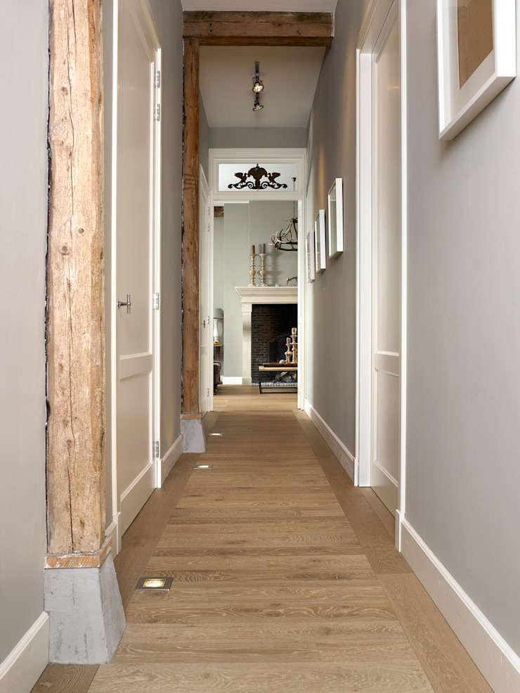 Country style corridor, hallway& stairs by Nobel flooring Country