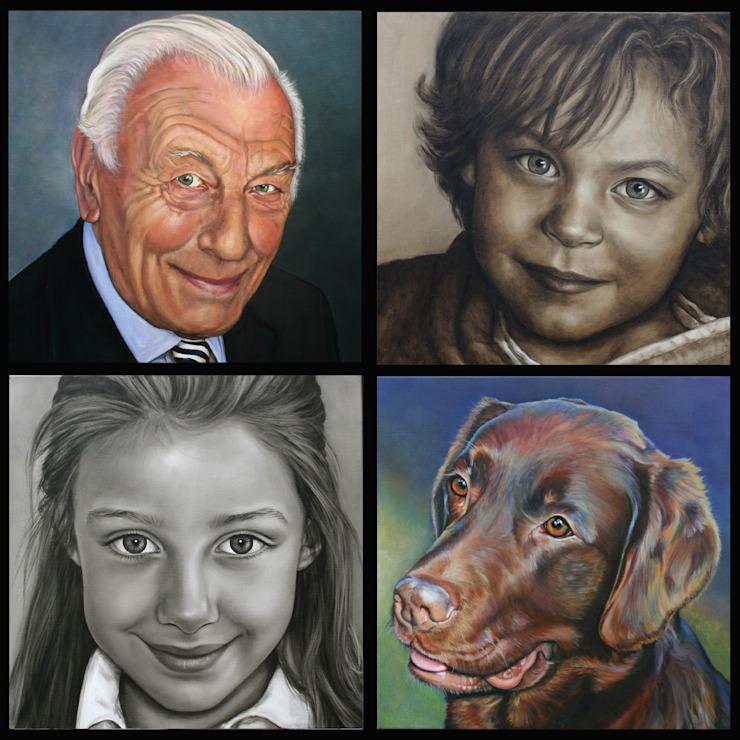 Olieverfportretten in opdracht.: modern  door Saskia Vugts Portretschilder, Modern