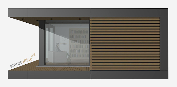 smartshack Oficinas de estilo minimalista
