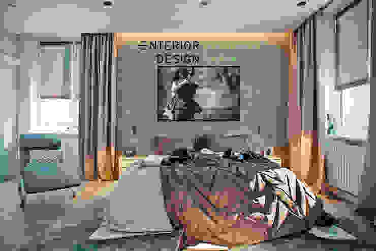 Спальня молодой пары Спальня в стиле лофт от Студия архитектуры и дизайна Дарьи Ельниковой Лофт