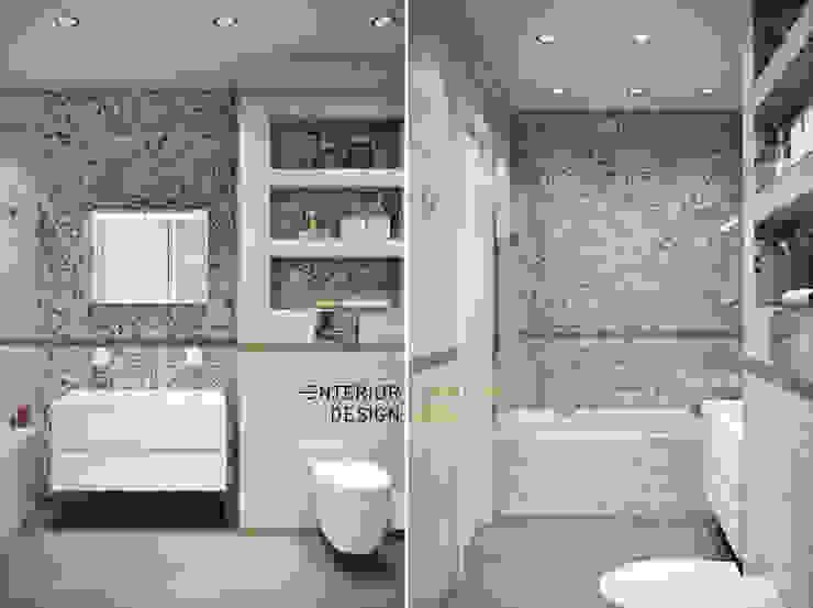 ванная совмещенная с санузлом Ванная комната в стиле модерн от Студия архитектуры и дизайна Дарьи Ельниковой Модерн