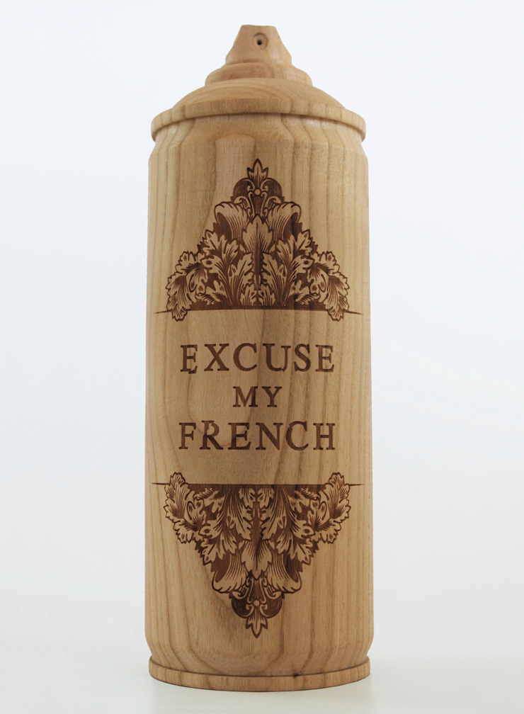 Wooden spray cans,: eclectic  by Zics design, Eclectic