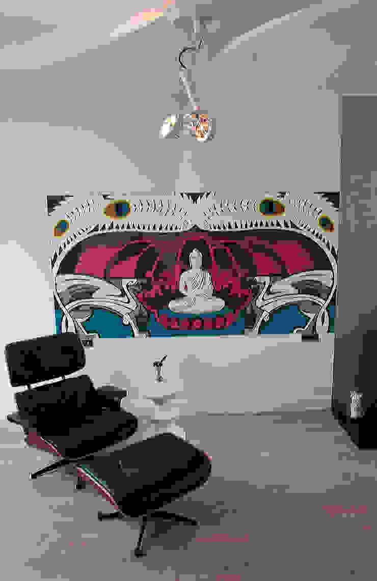 kleur Moderne woonkamers van IJzersterk interieurontwerp Modern